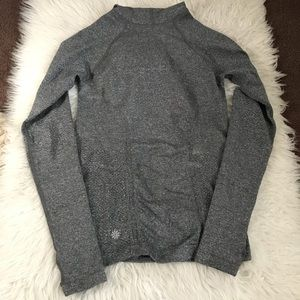 Athleta Gray Long Sleeve with Hood